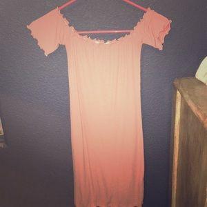 body con pinkish ruffled dress